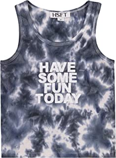 Have Some Fun Today | 婴儿背心 | 可爱 | 舒适 | 罗纹针织扎染 T 恤|(新生儿)