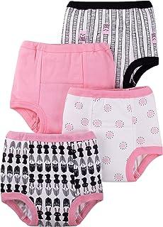 Lamaze *婴儿女童可重复使用可洗幼儿如厕训练裤,棉布,粉色,4T