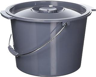 替换 commode 桶带盖子,12qt. / 2加仑
