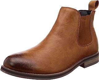 [格拉贝拉] 男靴 切尔西靴 男士 侧裆 PU 皮革 古董加工 平滑 3种颜色
