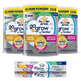Similac Go&Grow 婴幼儿奶粉,3罐,带有2'-FL HMO支持和25种主要营养成分,帮助平衡幼儿的营养,非…