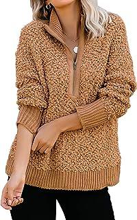 GRAPENT 女式圆领丑陋圣诞驯鹿树套头针织毛衣