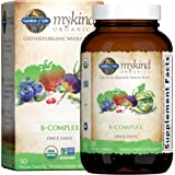 Garden of Life Mykind Organics 维生素B复合物,每天一次,30片,素食主义者,B族复合物…