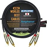 1.83 米 RCA 电缆对 - 采用 Canare L-4E6S、Star Quad、音频互连电缆和Amphenol…