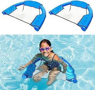 ALLADINBOX 2 件装面条吊带网椅,适用于泳池面条,可折叠泳池面条吊带网,适用于漂浮座椅,非常适合放松水,不包含面条,蓝色