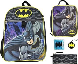 蝙蝠侠儿童16英寸(约40.6厘米)背包5件套经典漫画设计组合套装