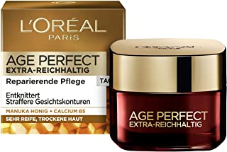 L'Oréal Paris 巴黎欧莱雅 Age Perfect 丰盈锁龄紧致抗皱日霜 适用于非常成熟和干燥肤质,含麦卢卡蜂蜜和B5钙,50ml