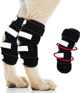 Petful Prime 高级支撑狗狗腿后护套 - 内衬为金属弹簧稳定条,为犬关节提供结构