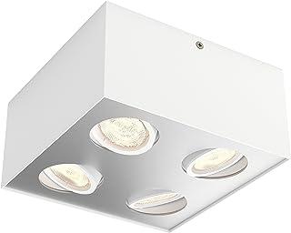 Philips 飞利浦 myLiving 聚光盒,暖光,调光效果 白色 20.2 x 20.2 x 10 cm 5049431P0