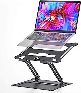 笔记本电脑支架 - SAVFY 可调节笔记本电脑支架铝制通风支架更新版本兼容Mac MacBook Pro Air Apple 笔记本 黑色 1