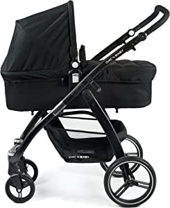 CHIC 4 BABY - 组合婴儿车 Volare,包括婴儿车附件和婴儿车,2017款 黑色
