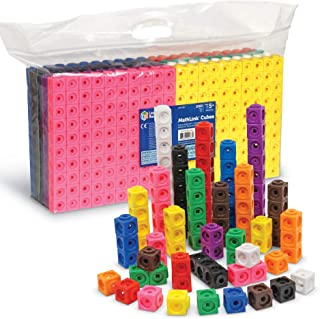 Learning Resources Mathlink 多维数据集,教育计数玩具,1000个,适合4岁以上的人群