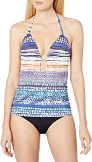 Kenneth Cole New York Women's Go For The Gold Halter Tankini with Foam Cups