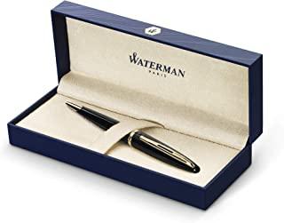 Waterman Carene Ballpoint Pen, Black Sea with Gold Trim (S0700380)