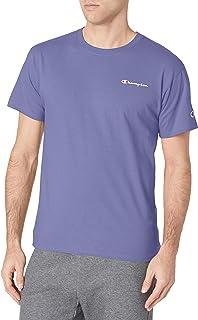Champion Men's Classic Graphic Tee, Iris Purple - Left Chest Logo, Large