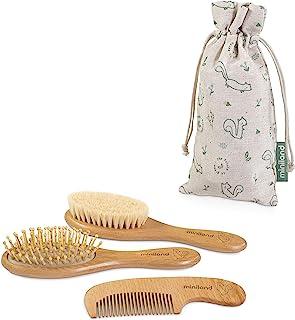 Miniland Baby Haircare Chip 发梳,天然木材,袋装,* 可持续环保婴儿礼品套装