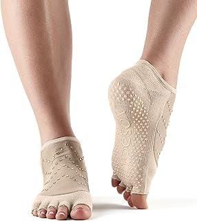 Toesox Grip Pilates 船袜 - 防滑月亮半脚趾瑜伽和芭蕾舞鞋