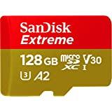 SanDisk 闪迪 Extreme microSDXC UHS-I 存储卡,带有适配器-C10,U3,V30、4K,A…