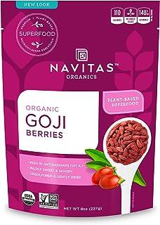 Navitas Organics 枸杞,8盎司/袋,227克— Non-GMO,晒干,无亚硫酸盐