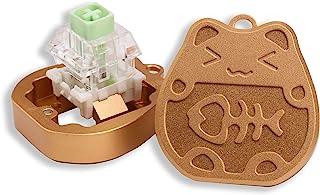 开关开瓶器 幸运猫金色铝 适用于 Kailh Gateron Cherry MX 开关 机械键盘 定制开口工具 带金属磁铁