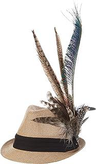 Alpenflüstern 女士传统帽子ADV086,棕色(自然35),55/57 厘米(制造商尺寸:中号)