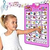 Just Smarty 电子互动字母挂图,会说话的 ABC 和 123 年代和音乐海报,幼儿的*佳教育玩具。儿童在日托…