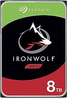 SEAGATE 希捷 IronWolf 8TB NAS 内置硬盘HDD – 3.5英寸(约8.89厘米)SATA 6Gb / s 7200 RPM 256MB高速缓存,用于RAID网络连接存储–无忧包装(ST8000VN004)(ST8000V...