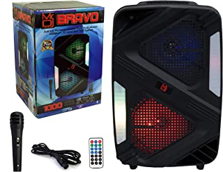 Mr. Dj Bravo Dual 6.5 英寸(约 16.5 厘米)便携式 PA DJ 主动式蓝牙 TWS 扬声器 1000 瓦 LCD/MP3/USB/micro SD