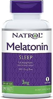 Natrol 褪黑素片,帮助您更快入睡,保持更长,3毫克片剂,240片(2件装)