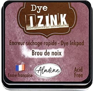 Aladine - Izink Dye Nut Brush 墨水 - 快干墨水 适用于衬垫和模板 - 剪贴簿和创意Cartery - 法国墨水 - 尺寸 M - 5 x 5 厘米 - 棕色