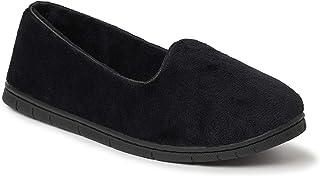 EZ Feet 女式舒适丝绒封闭式室内/室外拖鞋