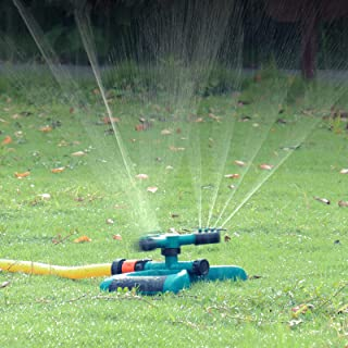 Bobalaly 草坪洒水器 旋转洒水器 适用于庭院大面积覆盖的洒水器 适用于草坪和花园,可调节园艺灌溉系统水乐园玩具