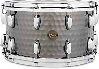 Gretsch Drums 机械鼓 小军鼓 Full Range Snare 8x14英寸 Hammered Black Steel S1-0814-BSH