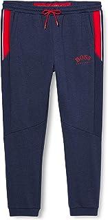 BOSS 男士 Hadiko 修身慢跑裤,棉混纺材质,带彩色块