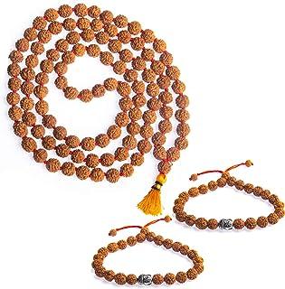 Wonder Care 正品 Rudraksh Mala-5face- 正宗喜马拉雅鲁德拉克沙种子宗教装饰念珠日本马拉项链 - 从尼泊尔进口