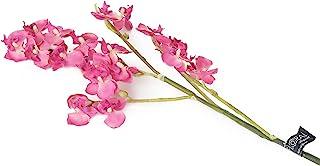 花朵优雅 69cm 单茎 粉色 迷你蝴蝶兰 × 6 人造丝花系列 半打