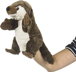 Eco Pals 河水獭木偶,野生动物艺术家,填充动物毛绒玩具木偶 11 英寸,环保,刺绣*和鼻子,由 * 消费后和再生材料制成
