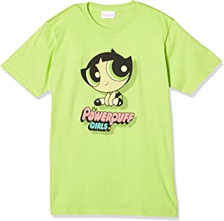 POWER Puff 女孩 黄油杯 中性短袖T恤 淡绿色 M码