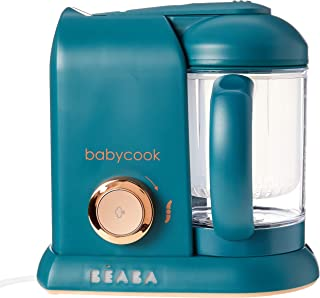 Béaba Babycook Solo婴儿4合1辅食机,婴儿食品加工,搅拌机和炊具,蒸锅烹饪 ,快速,为您的宝宝提供多样化的食物,松绿