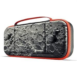 Tomtoc 便携盒适用于 Nintendo Switch Hori Split Pad Pro 控制器,抓握保护便携盒,带 30 个游戏盒,月亮主题限量版