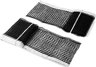 KINMINGZHU 2 件-71 英寸(约 179.8 厘米)乒乓球替换网,重型拉力乒乓球网,适用于室内户外学校健身房家居(黑色)
