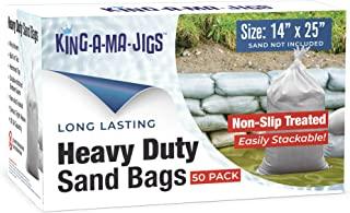 KING-A-MA-JIGS 50 包 - 沙袋 - 坚固,*聚乙烯带系带 - 防紫外线 - 35.56 x 63.5 厘米 - 防滑外层沙袋,便于堆叠