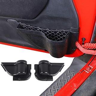 RT-TCZ 门袋收纳收纳整理器前门网袋托盘盒内部配件适用于吉普牧马人 JK JKU 2011-2018 黑色运动 X Sahara Rubicon 2 门 4 门