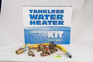 Dormont 热水器连接 (68004833) LFTV75KIT24NW-CV套件包括:双联式无气服务,缓解,全端口阀门,黄色涂层气体连接器,黄铜