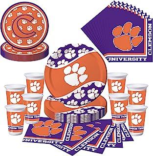 Clemson Tigers 派对套装 - 盘子、杯子、餐巾 - 餐巾纸 8