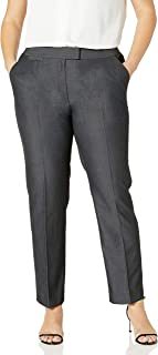 Tahari by Arthur S. Levine 女式加大码深灰色标签腰带长裤