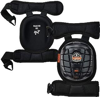 Ergodyne ProFlex 344 专业护膝,防护短帽,注入式凝胶技术,可调节衬垫舒适带,黑色