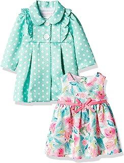 Bonnie Baby 女婴外套和花卉连衣裙套装