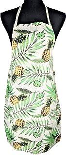 DBD Home 轻质棉质围裙彩色图案(菠萝叶)