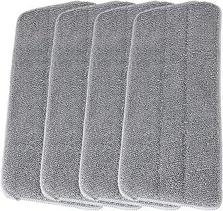 LEARJA 扁平地板拖把垫,超细纤维拖把服装套装适用于专业家居清洁/4 个可水洗超细纤维垫完美厨房清洁剂,适用于硬木、层压、瓷砖、乙烯基(4 件套)